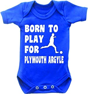 Born to Play Football for Plymouth Argyle Short Sleeved Baby