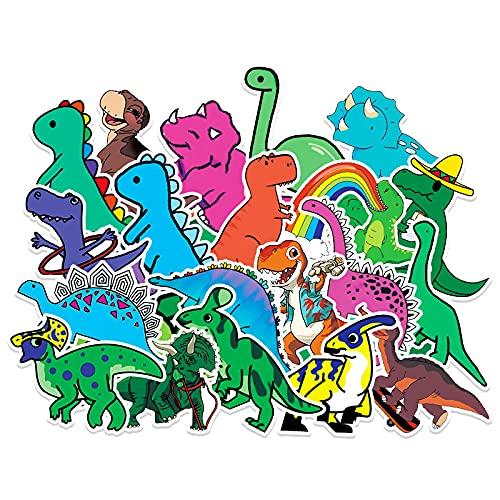 50 pegatinas de Doodle de dinosaurio pequeño dibujos animados niños Diy portátil monopatín taza de agua pegatinas de maleta
