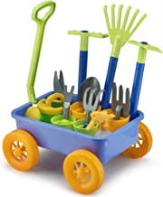 Liberty Imports Garden Wagon & Tools Toy Set for Kids with 8 Gardening Tools, 4 Pots, Water Pail and Spray - Great for Bea...