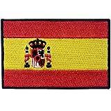 Bandera de España Español EEmblema nacional Parche Bordado de Aplicación con Plancha