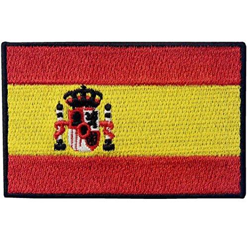 Spanien Flagge Spanisch Nationales Emblem Bestickter Aufnäher zum Aufbügeln/Annähen