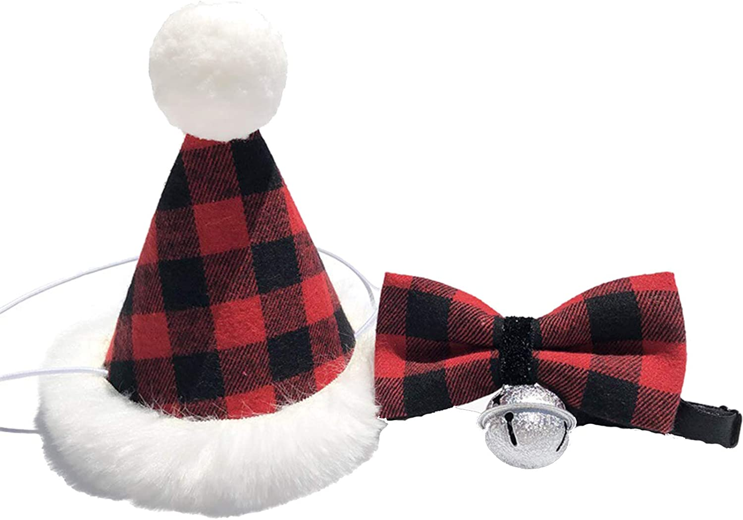 MASCARE Pet Santa Hat with Ranking TOP11 Bow Tie Max 53% OFF Set Dog Scarf for Bandana Cat