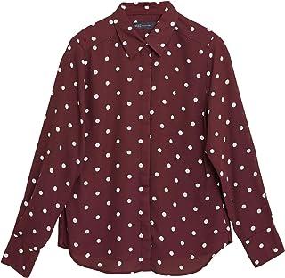 Marks & Spencer Women's Polka Dot Long Sleeve Shirt, BERRY