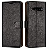 Case Collection Premium Leather Folio Cover for LG V60 Case