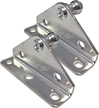 PerfectScore 10MM Ball Stud Angled Lift Support Bracket - Zinc Plated 10 Gauge Steel – Lift Support Bracket for Gas Spring/Prop/Strut - Pack of 2