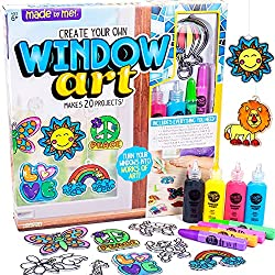 Made By Me Create Your Own Window Art by Horizon Group USA, Paint Your Own Suncatchers, Includes 12 Suncatchers & More, Assorted Colors