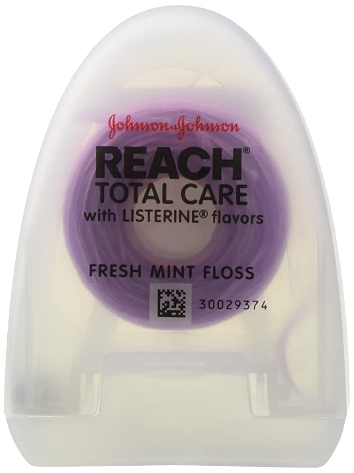 Reach Total Care Floss with Listerine, Fresh Mint, 30 Yards (Pack of 12)