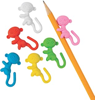 Monkey Pencil-Hugger Erasers - Stationery - 24 Pieces
