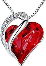 Best january birthstone heart necklace Reviews