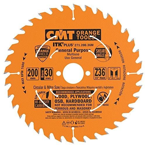 CMT Orange Tools 271.200.36M - Sierra circular (ultra itk) 200x1.7x30 z 36
