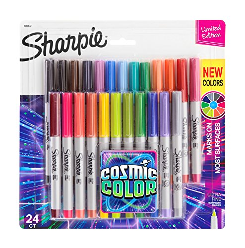 Marcadores permanentes Sharpie Color Burst, Cosmic Color, 24-Count