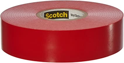 Scotch(R) Vinyl Color Coding Electrical Tape 35, 3/4 in x 66 ft, Red