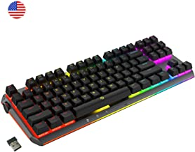 DREVO BladeMaster PRO Cherry MX Silent Red Wireless 2.4G/Bluetooth 4.0/USB TKL RGB Mechanical Gaming Keyboard with Programable Genius Knob