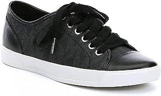 Michael Kors Womens MK City Sneakers, PVC, Black
