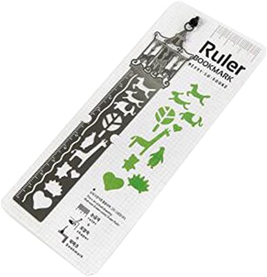 Set of 2 Drawing Bookmarks Straight Ruler Creative Ruler Bookmarks,Carousel