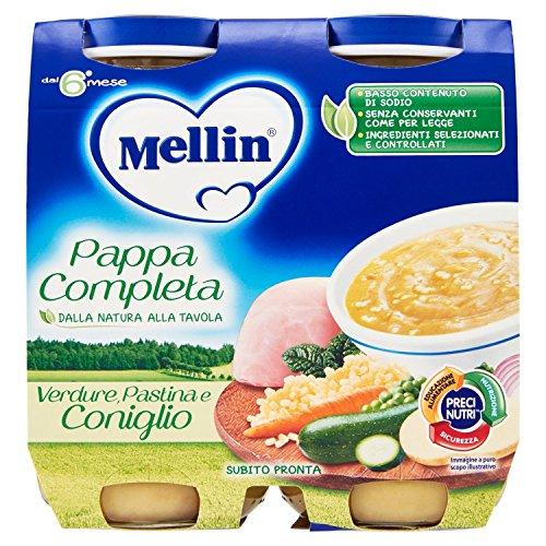 Mellin Pappa Completa Coniglio 2 x 250Gr
