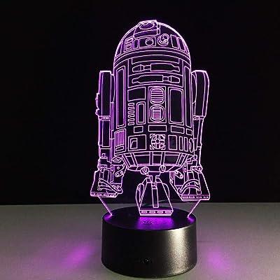Malilove Robot Novelty 3D Night Light Led Lámpara De Cabecera Mesa ...