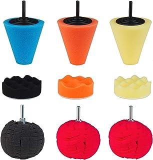 Locisne Kit de Cirage de beauté pour Voiture éponge de Polissage, kit de tampons de Polissage de Voiture 3 cônes de Poliss...