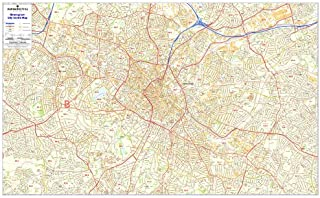 Birmingham Postcode Map - Laminated City Centre Sector Wall Map 2