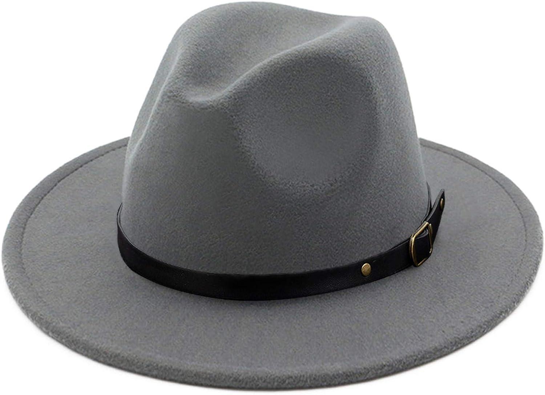 Lisianthus Womens Wide Brim Fedora Jazz Hat