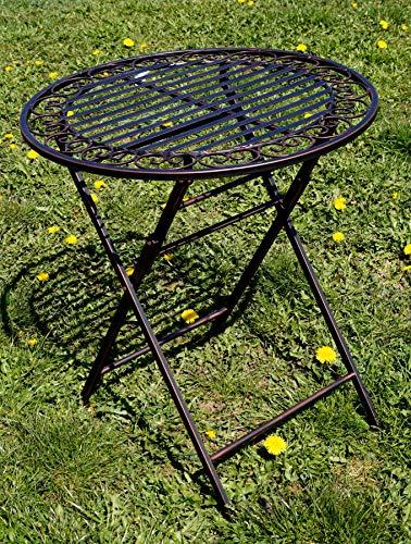 """Exklusive Sitzgruppe """"Eliza"""", Gartentisch mit 2 Stühlen, Gartengarnitur, sehr stabile Metallausführung, klappbar Bild 5*"""