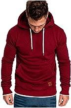 Beautyfine Sweatshirts Men's Hoodies, Tracksuits Autumn Winter Casual Tops Long-Sleeved Zipper T-Shirt Solid Hooded Blouse