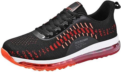 Mzq-yq Souliers pour Hommes - Chaussures Chaussures de Course de Printemps - Chaussures tissées Sauvages Volantes XL - Chaussures pour Hommes - Coussin pneumatique 46,47,48  économiser 35% - 70% de réduction