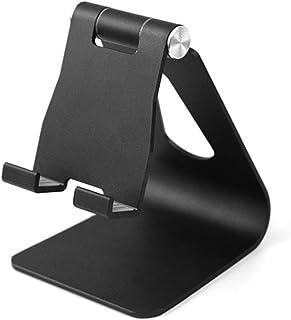 タブレット スタンド スマホ兼用 角度調整可能 充電スタンド ホルダー 対応 タブレット 卓上 (ブラック)