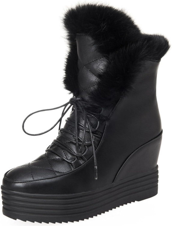 RizaBina Women Warm Lined Boots Hidden Heel