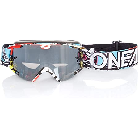 O Neal Fahrrad Motocross Brille Kinder Mx Mtb Dh Downhill Freeride Verstellbares Band Optimaler Komfort Perfekte Belüftung B 30 Youth Goggle Crank Schwarz Multi Verspiegelt One Size Amazon De