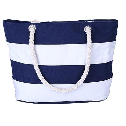 2292676b117e Pulama Women Beach Tote Canvas Shoulder Bag Anchor Summer Handbag Top  Handle Bag Straw Beach Bag