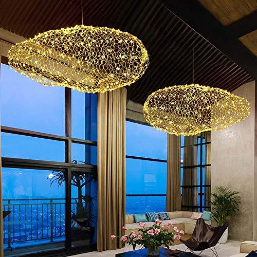 Zzaoxin Lámparas de araña Nubes De Alambre De Púas Cubren El Candelabros Bar Restaurante Cafetería Decoración LED Cielo Estrellado Grande Nubes Blancas Dormitorio Lámpara 30 * 80cm