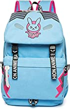 D.va Genji Reaper Cosplay Backpack Deluxe Canvas School Bag Game Accessories Bookbag for Teenagers (D.VA)