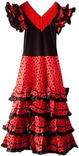 La Senorita Spanish Flamenco Dress Fancy Dress Costume - Ladies/Women