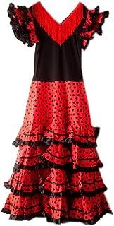 La Senorita La Senorita Spanische Flamenco Kleid/Kostüm - für Frauen/Damen - Schwarz/Rot - Größe 40-42