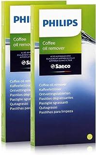 Philips Saeco Lot de 2 boîtes de 6 pastilles dégraissantes (1,6g) pour machines à café