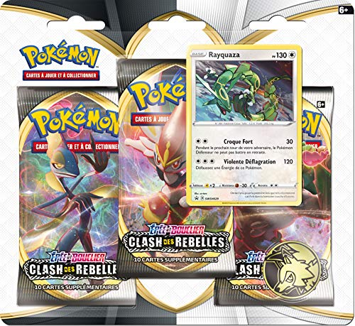 Pokemon Epée et Bouclier-Clash des Rebelles (EB02) : Pack 3 boosters, 3PACK01EB02