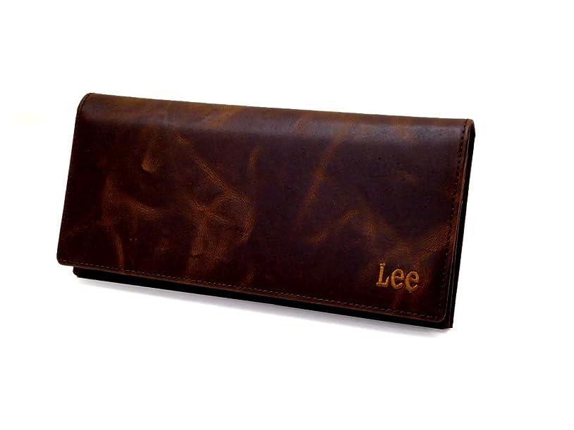 連合に慣れエンディングLee(リー)ボンデットレザー 長財布 (束入れ ファスナー 化粧箱なし) 520368チョコ