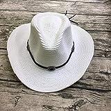 B/H Sombrero Ancha Verano al Aire Libre Vacaciones Plegable,Sombrilla de Playa de Rafia Ocio Paja Sombrero Blanco,Sombrero Mujer Un Accesorio Esencial al Aire Libre