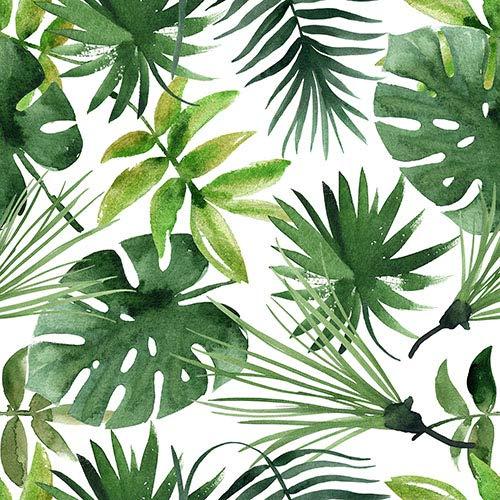 20 Servietten Mischung aus Palmenblätter als Tischdeko für den Sommer 33x33cm