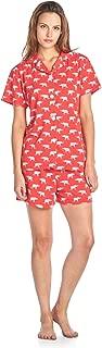 BHPJ Women's Soft Knit Short Sleeve Pajama Shorts Set