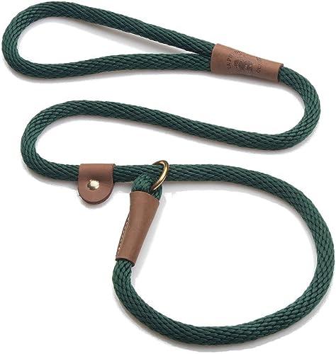 "Mendota Pet Slip Lead,  1/2"" X 4', Hunter Green, Dogs"