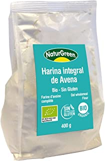 Harina de Avena Integral Bio NaturGreen 400g: Amazon.es ...