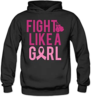 Women's Fight Like A Girl Breast Cancer Boxing Gloves Hoodie