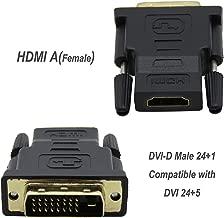 , Negro D-Sub Digitus DB-320504-000-S DVI Adaptador para cable D-Sub VGA 24+5 DVI Negro adaptador de cable 24+5 VGA