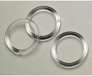 NAHANCO CIR100 Plastic Scarf Rings, Clear Acrylic (Pack of 100)