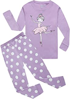 2d8f5ad22 Family Feeling Zebra Little and Big Girls 2 Piece 100% Cotton Pajamas Sets Kids  PJS