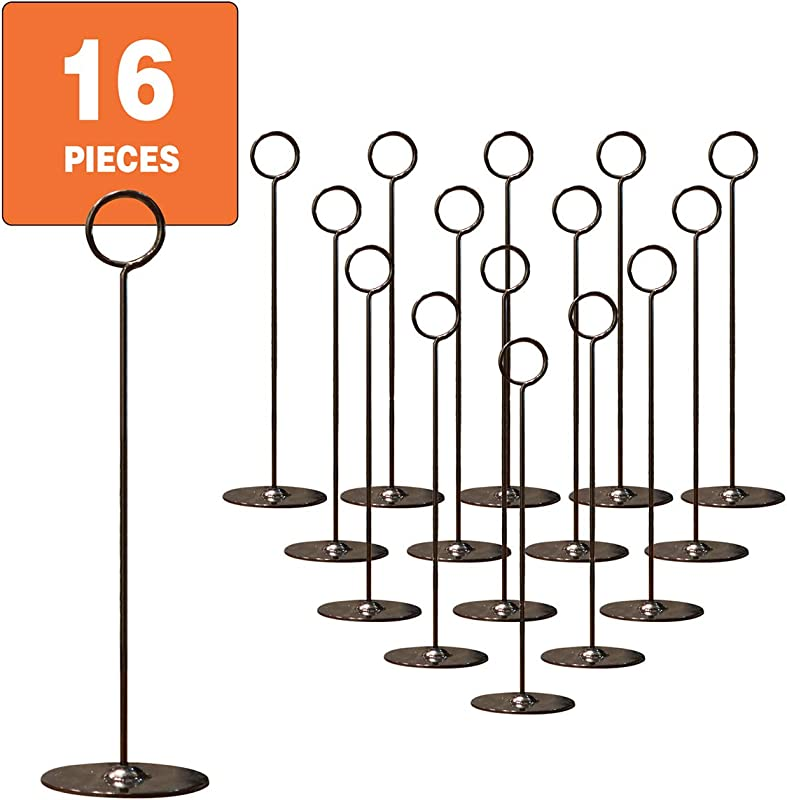 Urban Deco Place Card Holder Table Number Holder Wedding Card Holder 12 Inch Set Of 16 For Restaurants Weddings Banquets 12 Black Place Card Holder