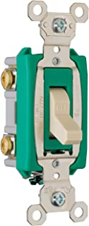 Legrand - Pass & Seymour PS30AC2ICC6 30-Amp 120-volt/277-volt Back and Side Wire Commercial Specification Grade Double Pole Switch