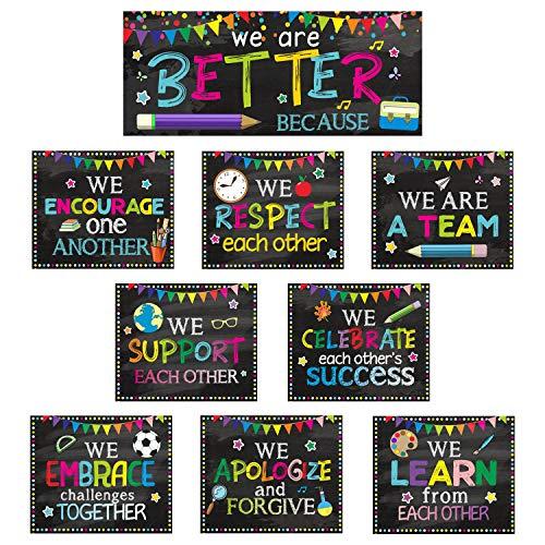 Classroom Decorations Bulletin Board Poster Banner Set Classroom Party Supplies for Kindergarten Pre-School Primary High School